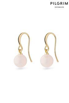 Pilgrim Pink Goldie Plated Earring