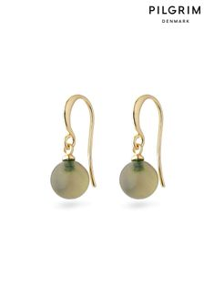 PILGRIM Green Goldie Plated Earring