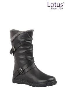 Lotus Footwear Black Casual Boot
