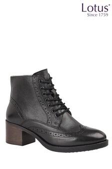Lotus Footwear Black Casual Ankle Boot