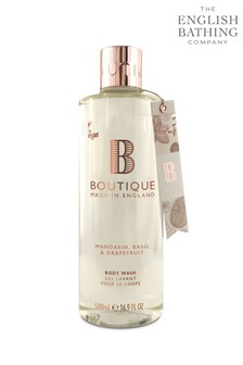 Boutique from The English Bathing Company Mandarin, Basil & Grapefruit Body Wash 500ml