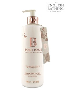 Boutique from The English Bathing Company Mandarin, Basil & Grapefruit Hand & Body Lotion 500ml