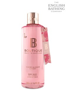 Boutique from The English Bathing Company Cherry Blossom & Peony Body Wash 500ml -