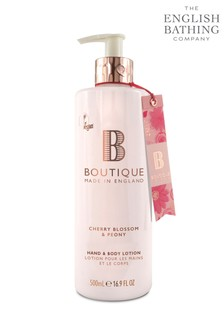 Boutique from The English Bathing Company Cherry Blossom & Peony Hand & Body Lotion 500ml