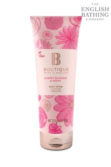 Boutique from The English Bathing Company Cherry Blossom & Peony Body Scrub 225g
