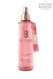 Boutique from The English Bathing Company Cherry Blossom & Peony Hair & Body Mist 250ml