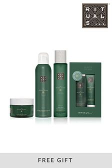 Rituals The Ritual of Jing Foaming Shower Gel, Body Cream, Hair and Body Mist Bundle with Gift