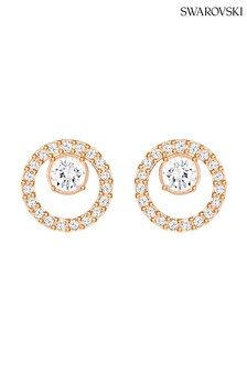 Swarovski Rose Gold Plated Creativity Circle Pierced Earrings