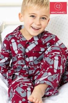 Cyberjammies Red Kids Long Sleeve PJ Set
