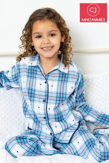 Cyberjammies Blue Check Long Sleeve PJ Set