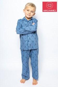 Cyberjammies Blue Kids Long Sleeve PJ Set