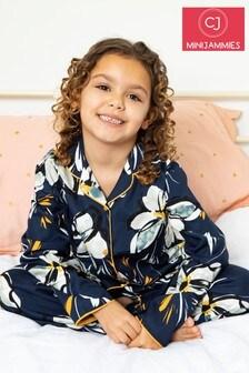 Minijammies Navy Printed Long Sleeve PJ Set