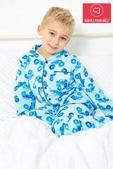 Minijammies Blue Printed Long Sleeve PJ Set