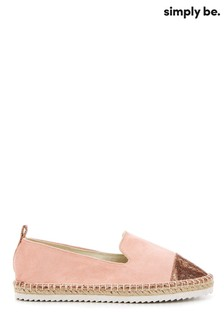 Simply Be Pink Minnie Toecap Espadrille