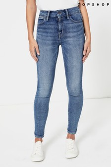 Topshop Blue Skinny Jeans