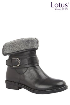 Lotus Footwear Black Casual Ankle Boot