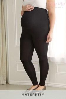 Bump It Up Black Maternity Support Full-Length Leggings