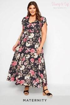 Bump It Up Maternity Floral Maxi Dress