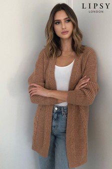 Lipsy Camel Cable Cardigan