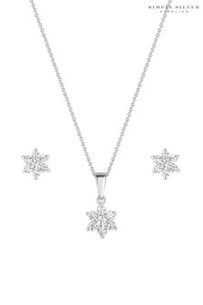 Simply Silver Silver Necklace Star Matching Set - Gift Boxed