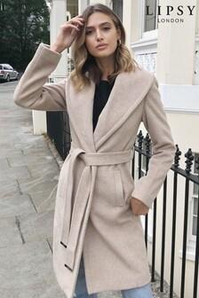 Lipsy Cream Shawl Robe Coat