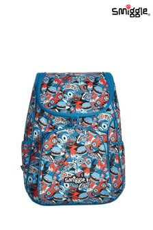 Smiggle Grey Illusion Reflective Access Backpack