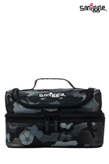 Smiggle Black Illusion Double Decker Lunchbox