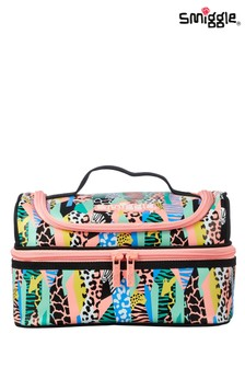 Smiggle Bright Animal Illusion Double Decker Lunchbox
