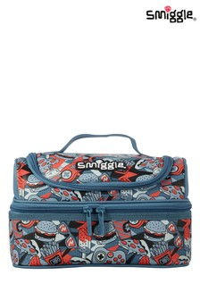 Smiggle Grey Illusion Double Decker Lunchbox