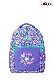 Smiggle Purple Neat Backpack