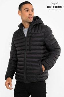 Threadbare Black Lightweight Padded Jacket