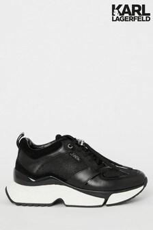 Karl Lagerfeld Black Aventur Lux Leather Trainer