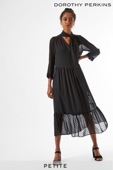 Dorothy Perkins Black Petite Shirt Dress