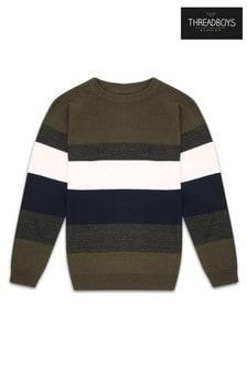 Threadboys Stripe Colourblock Jumper