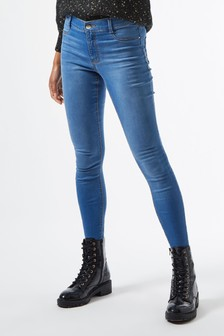 Dorothy Perkins Short Leg Mid Wash Frankie Jeans