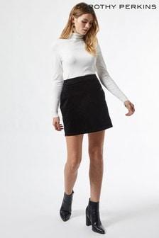 Dorothy Perkins Black Cord Wrap Mini Skirt