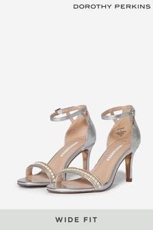 Dorothy Perkins Metallic Wide Fit Embellished Sandal