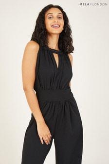 Mela Black Keyhole Jumpsuit