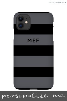 Personalised Grey & Black Phone Case By Koko Blossom