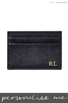 Personalised Leather Card Holder By Koko Blossom