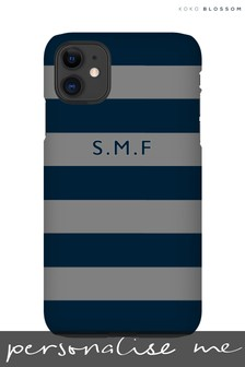 Personalised Grey & Navy Phone Case By Koko Blossom