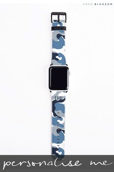 Personalised Blue Watch Strap By Koko Blossom