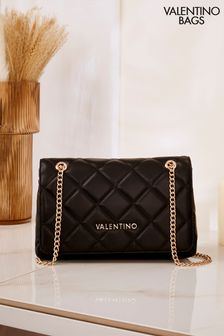 Valentino by Mario Valentino Black Ocarina Quilted Shoulder Bag