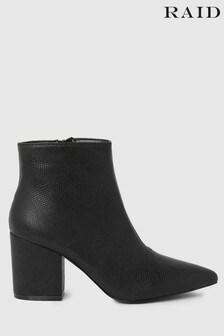 Raid Block Heel Ankle Boot