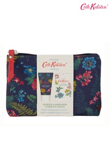 Cath Kidston Twilight Garden Cosmetic Pouch 30ml Hand Cream and 15ml Hand Sanitiser