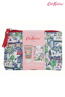 Cath Kidston London View Cosmetic Pouch 30ml Hand Cream and 15ml Hand Sanitiser