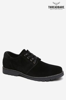 Threadbare Black Derby Shoe