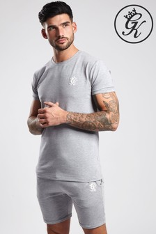 Gym King Grey Logo Sports T-Shirt