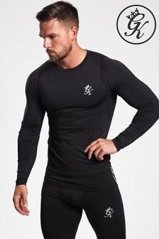 Gym King Black Logo Long Sleeve Sports Top