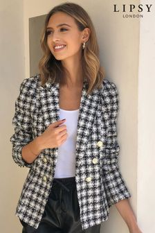 Lipsy Monochrome Lipsy Military Tailored Button Blazer